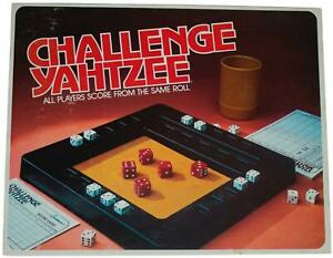 VTG 80s CHALLENGE YAHTZEE DICE GAME Milton Bradley Fun Age 10+ Complete CIB 1980