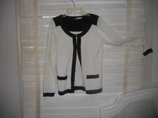 anne Fontaine Paris ~Art To Wear~ Black & White Ludivine Colorblock Cardigan ~40