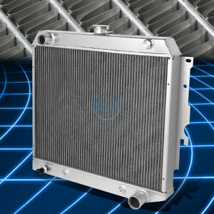 For 62-67 Chevrolet Chevy II / Nova 3-Row Aluminum Cooling Radiator Replacement