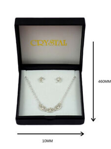 Womens Jewellery Fashion Necklace/Earring Set Silver Crystal Handcrafted