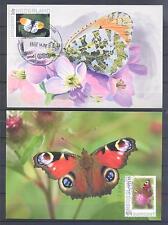 NETHERLANDS 2010, Butterflies, 2 MAX CARDS, (167)