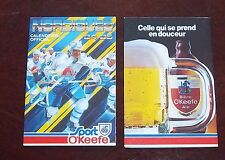 Quebec Nordiques pocket schedule  1984-85 NHL # 2