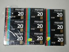 Maxell Camcorder Video Cassette VHS-C HGX-Gold TC-20 Lot of 9 Total Sealed