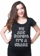 Baby Shower Funny Pregnancy T-shirt We Are Hoping It's A Shark
