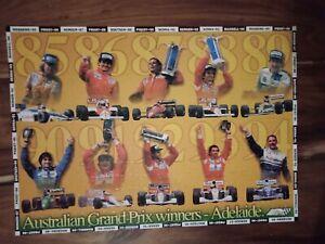 Australian Grand Prix Winners Adelaide 1985-1994 jigsaw puzzle 300 piece Senna