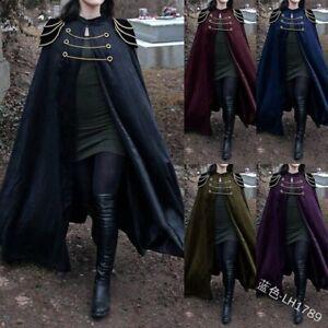 Women Cloak Vintage Jackets Floor-Length Medieval Long Cape Overcoats Plus Size