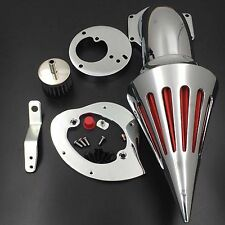 Brand New Spike Air Cleaner Intake Filter Kit For Honda Vtx1300 1986-2012 Chrome