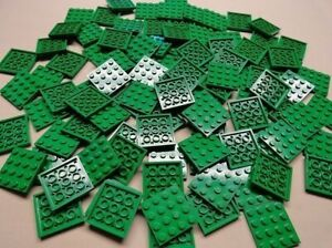 x100 NEW Lego Green Plates 4x4 Brick Building Green Baseplates?100 Lego plates a