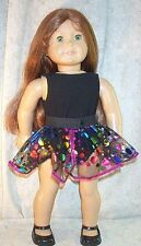 """Doll Clothes Girl fits 18"""" inch Ice Skate Black Bodysuit Dots Skirt NEW"""