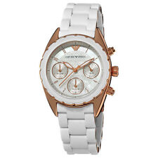 NEW Emporio Armani AR5943 Women's Sportivo Chrono Mother-of-pearl Dial Watch 50M