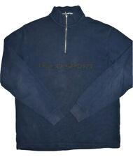 Polo Sport Mens 1/2 Zip Sweatshirt Size L Navy Pullover Spell Out Ralph Lauren