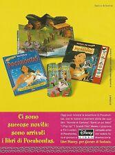 X7354 Pocahontas - Libri Disney - Pubblicità 1995 - Vintage advertising