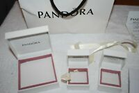 Pandora Bag with Earring box/Ring and a Necklace boxes all in good condition
