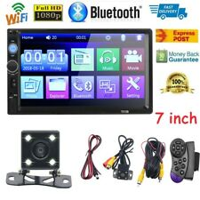 7 inch Dual 2 DIN Car MP5 Player Bluetooth LCD Touch Screen Stereo Radio Camera