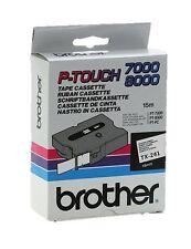 Brother P-touch tx-241 (18mm x 15m) Negro sobre blanco Etiquetado Cinta