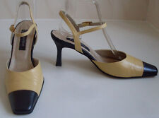 JACQUES VERT Blue Yellow Leather Pointed Toe Shoes Size UK 6 EU 39.5 US 8.5