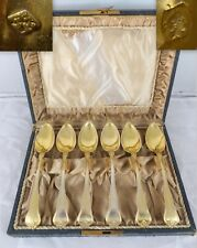 1900 Beautiful Silver And Vermeil Coffee or Tea Service Set Box By L. PIERROT