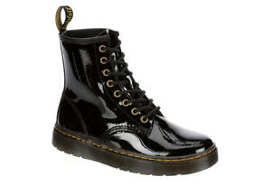 NIB - DR. MARTENS AIRWAIR Unisex 'ZAVALA 26356001' Black COMBAT BOOTS- Women's 8