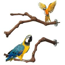 New listing Pet Parrot Bird Standing Stick Wild Grape Wood PoleBite Claw Grinding Toys