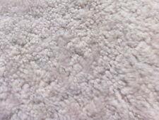 sheepskin shearling leather hide Nappa Mocha Curly Plush Hair w/Smooth back
