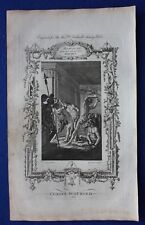 Original antique print CHRIST SCOURGED, Dr. Southwell's Bible, 1774