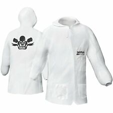 Large Devilbiss 803665 Nylon Lab Coat Pullover Hood- Paint Spray Or Mix Suit