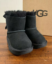 UGG TODDLERS 1017397T, MINI BAILEY BOW II SIZE 6 BLACK BOOTS AUTHENTIC NEW