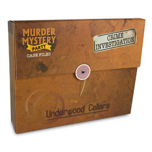 Murder Mystery Case Files Unsolved Crimes Underwood Cellars Board Game NEW