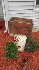 Vintage Antique 1947 American Brewery Co. Beer Crate Rochester, NY - COOL!