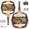 Griddle Frying Pan Grill Carbon Steel Non Stick Skillet Cooking Fry Square Steak