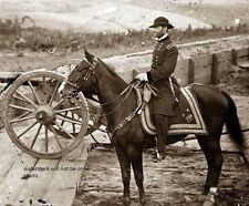 "Union General William T. Sherman on horseback 8""x 10"" Civil War Photo Picture 48"