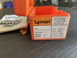 Lyman Bullet Mold pistol 2 cavity. .38.   358480. 145 Gr. Round Nose