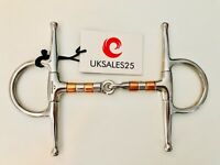 Full Cheek Copper Roller Jointed Snaffle Bit (Horse bits)
