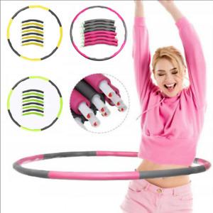 8 Teile Hula Hoop Fitness Reifen Gymnastik Hüftmassage Schaumstoff Bauchtrain DE