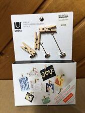 Umbra Pinch Photomemo Holder Clothespin 9pc Set Brand New