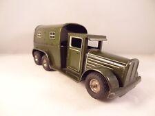 Ancien jouet camion militaire tôle mécanique GÖSO us zone germany 1948/53