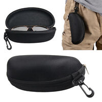 Zipper Eye Glasses Case Spectacle Box Sunglass Protector Travel with Belt Clip