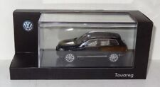 Herpa Volkswagen VW Touareg negro metálico 1:43 en PC y embalaje original (r2_3_43)