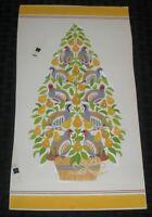 "MERRY CHRISTMAS Tree w/ Partridge & Pears 6x11"" Greeting Card Art #5307"