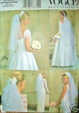 Vogue 7861 Sewing Pattern Accessories Wedding Bridal Veils UNCUT FF OOP