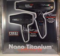 BABYLISS PRO NANO TITANIUM BLACK DUO PORTOFINO 6600 & BAMBINO 5510 HAIR DRYER