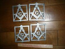 4 NOS Vintage Mason Masonic fraternal  grave markers flag holder  cemetery