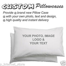 Personalized custom Printed Pillowcase - print your PHOTO and TEXT on100% cotton