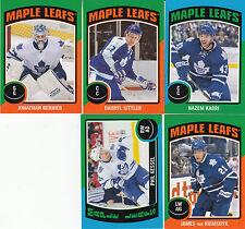 14/15 OPC Toronto Maple Leafs Sticker Team Set Sittler Bernier +