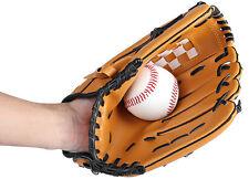 Baseball Player Glove Professional Brown Left Hand Softball Baseball Glove 1Set