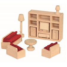 Wohnzimmer Beluga Puppenhaus Möbel Puppenhausmöbel Accessoires Zubehör Zimmer