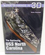 Kagero 16033 - Super Drawings in 3D - The Battleship USS North Carolina     Book