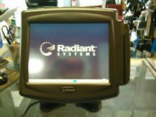 "used Radiant P1220-0049 Pos Terminal 12"" with customer display working read ad"