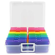 """Photo Storage Box Containers 4"""" X 6"""" Keeper Organizer 16 Inner Holders Cases NEW"""