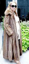 ***TIMELESS & CLASSIC***ALIXANDRE RUSSIAN SABLE FULL LENGTH FUR SWING COAT 4-10